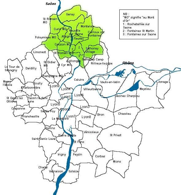 Carte Val de Saône